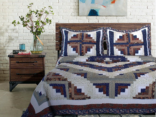 COLORADO LOG CABIN QUILT SET
