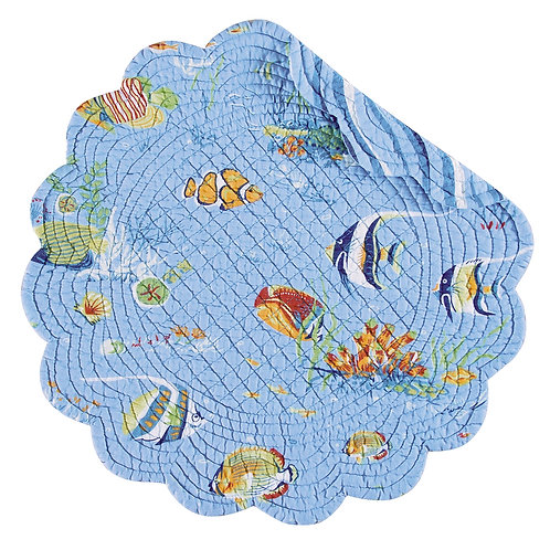 REEF PARADISE QUILTED PLACEMAT