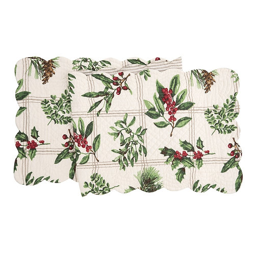 WINTER BOTANICAL QUILTED TABLE RUNNER