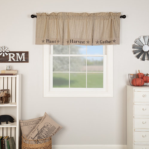 SAWYER MILL CHARCOAL GATHER VALANCE