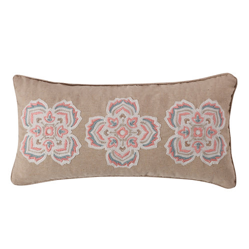 SPRUCE CORAL MEDALLIONS PILLOW