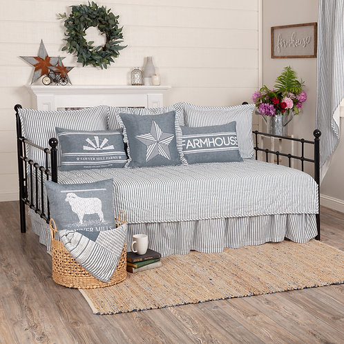 SAWYER MILL BLUE TICKING DAY BED SET
