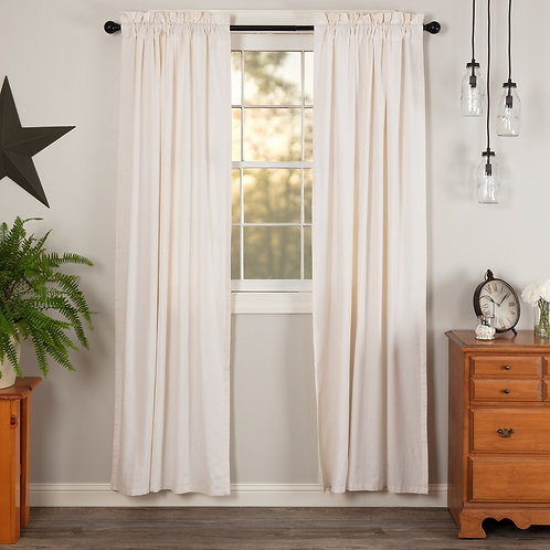 SIMPLE LIFE FLAX ANTIQUE WHITE PANEL CURTAIN SET OF 2 84X40