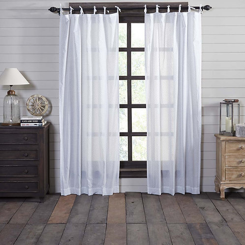 NORA TIE TOP PANEL CURTAIN SET OF 2 84X40