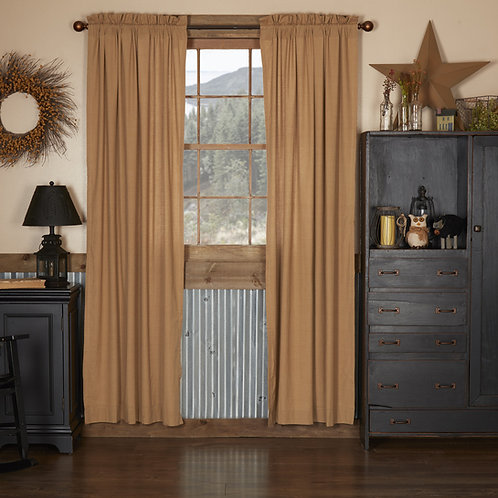 KINDRED STAR PLAID PANEL CURTAIN SET OF 2 84X40