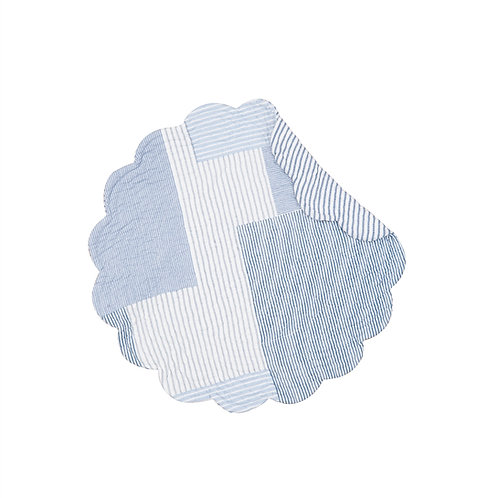 ASHER STRIPE QUILTED PLACEMAT (ROUND OR RECTANGLE)