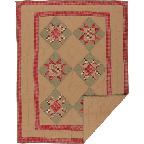 DOLLY STAR PATCHWORK THROW