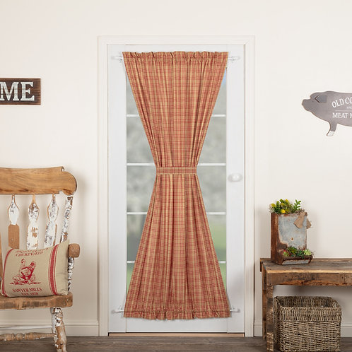 SAWYER MILL RED PLAID DOOR PANEL 72X40