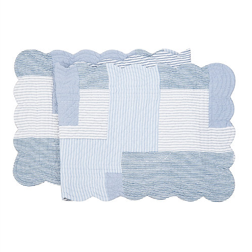 ASHER STRIPE QUILTED TABLE RUNNER