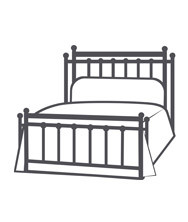 COMPLETE BED WITH RETURN POSTS