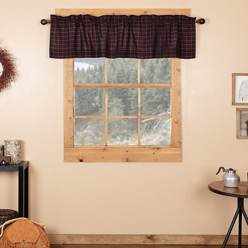 GLENNOCK PLAID VALANCE CURTAIN