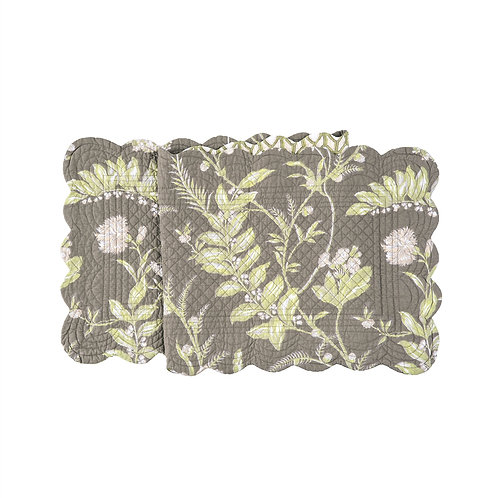 SOLOMON'S SEAL QUILTED TABLE RUNNER