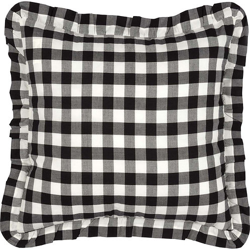 ANNIE BUFFALO CHECK RUFFLED PILLOW