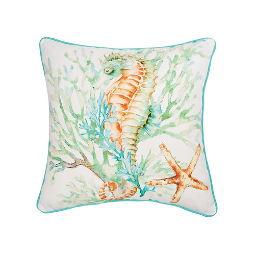 COLORFUL SEAHORSE PILLOW