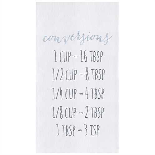 CONVERSIONS EMBROIDERED FLOUR SACK TOWEL