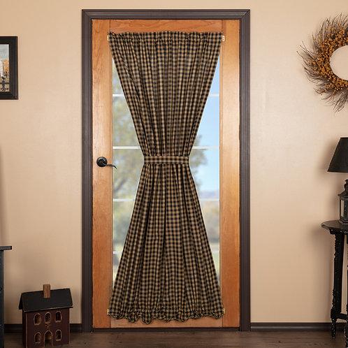 BLACK CHECK DOOR PANEL 72X40