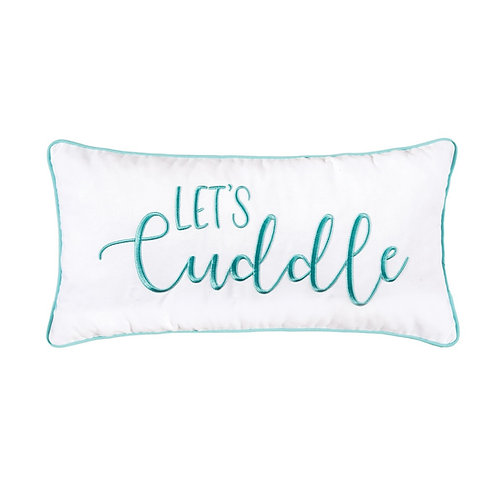 """LET'S CUDDLE"" EMBROIDERED PILLOW"