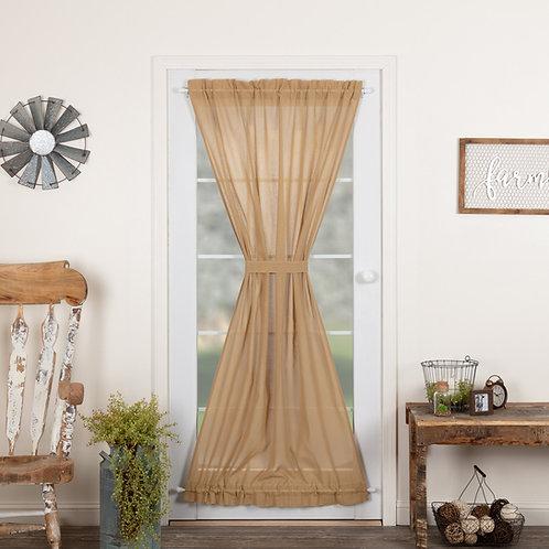 TOBACCO CLOTH KHAKI DOOR PANEL 72X40