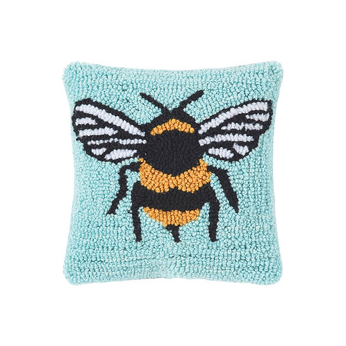 BUMBLE BEE HOOKED PILLOW