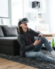 happy-man-play-games-with-3d-virtual-rea