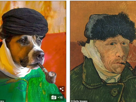 Pup poses for great art