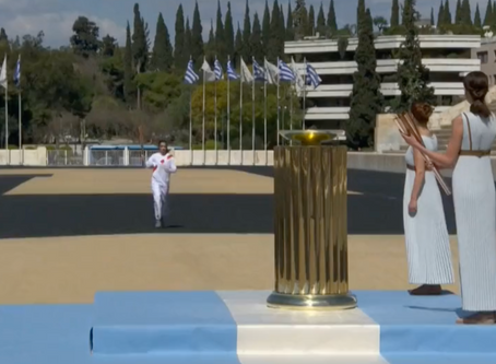Olympic Flame lit