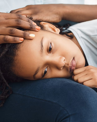 close-up-of-black-girl-39-s-head-laying-