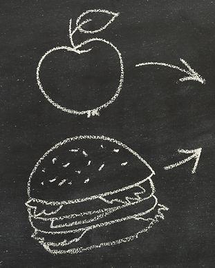 empty-plastic-food-container-on-black-ba