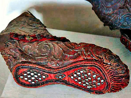 2300-year-old shoe found frozen