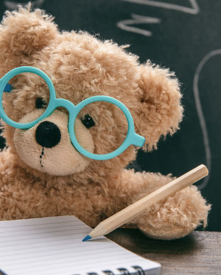 math-test-cute-teddy-wearing-glasses-and