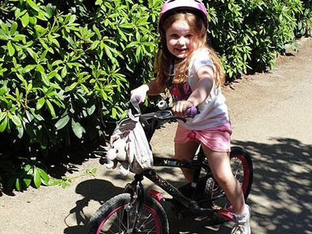 5-year-old rides 100 miles for charity