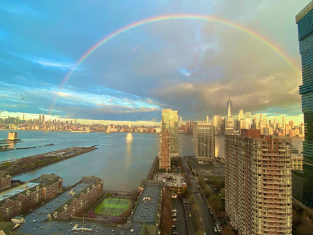 A rainbow over New York