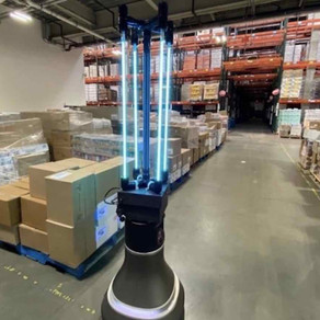 Robot disinfects food bank in 30 minutes