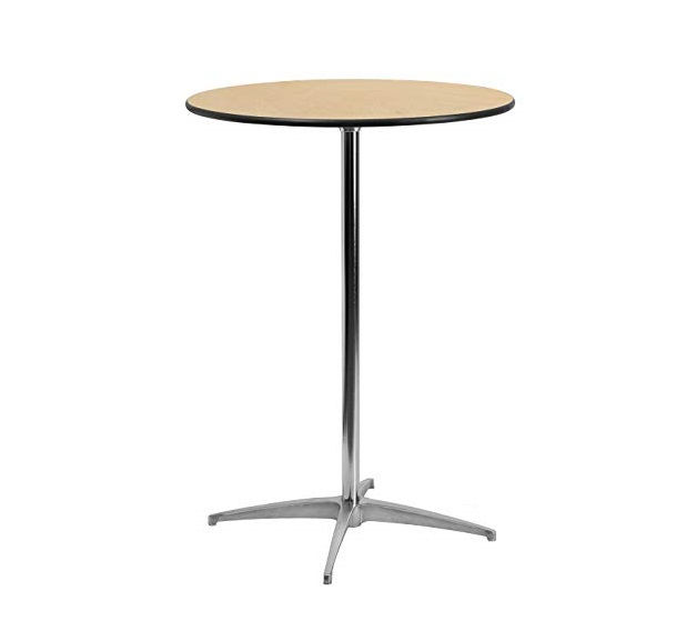 """30"""" Round Wood Cocktail Table"""
