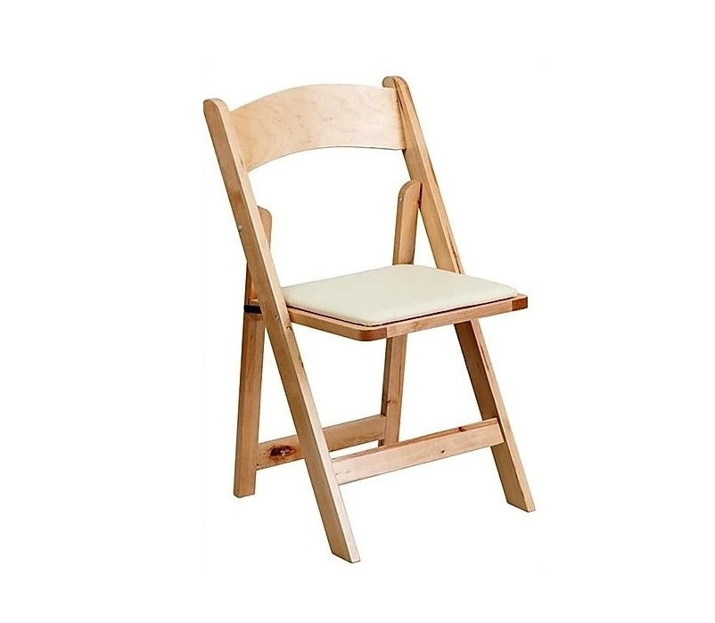 Natural - Wood Padded Chair