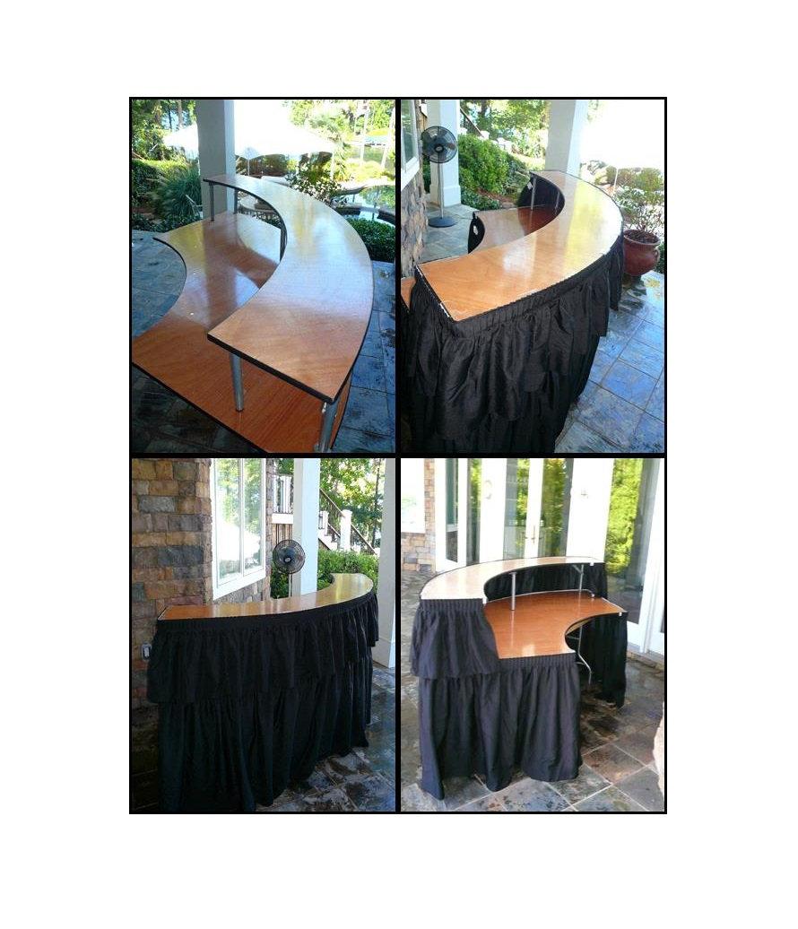 Bar Table with Riser & Table Skirt