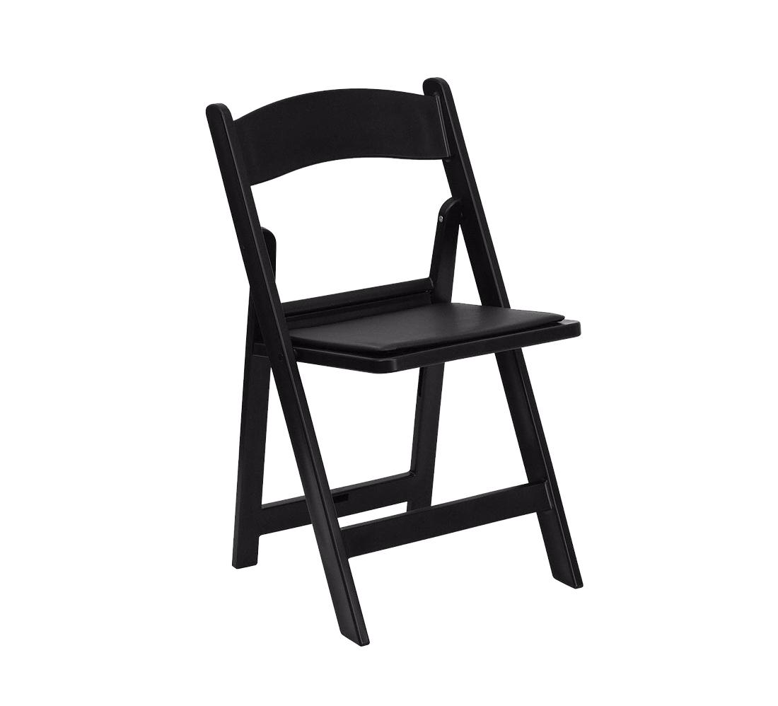 Black - Resin Padded Chair