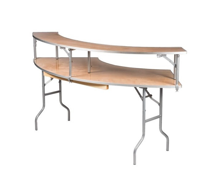 Serpentine Bar Table with Riser
