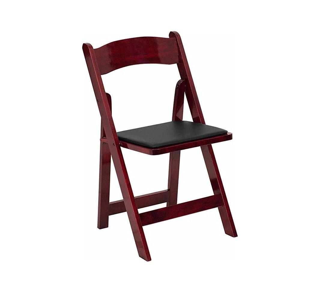 Mahogany - Wood Padded Chair