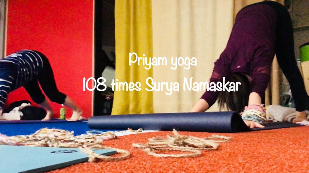 Priyam Yoga 108 times Surya Namaskar