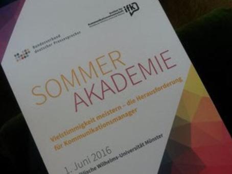 campus relations e.V. bei der Sommerakademie des BdP