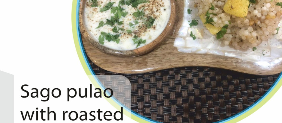Sago Pulao with Roasted Potatoes