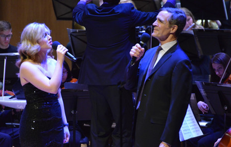 """Singing with Howard McGillin in """"Broadway's British Invasion"""" with the Children's Orchestra Society"""