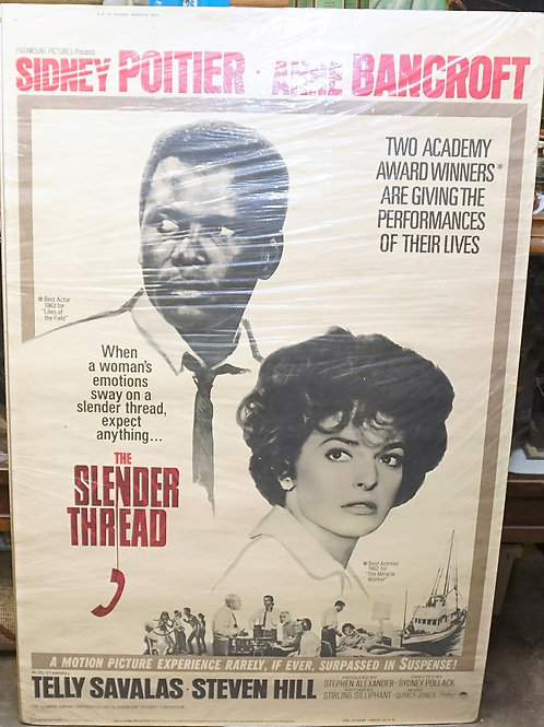 """The Slender Thread"" 1965 Movie Poster"