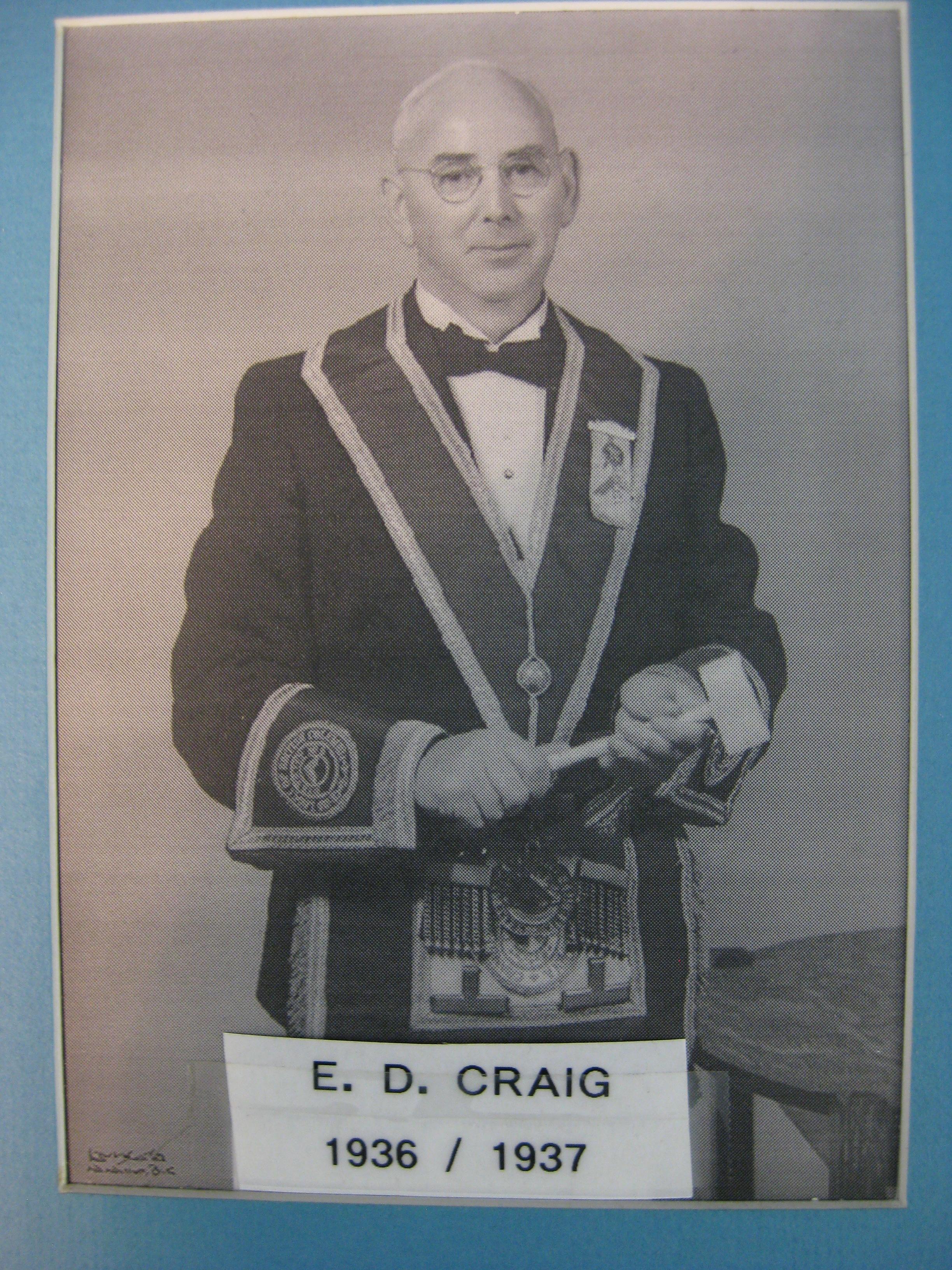 Craig, E.D. 1936-37