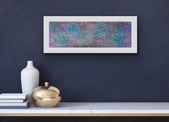 Abstract Mixed Media Textile Art