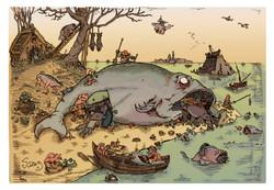 Appropriation of Brugel's Big fish