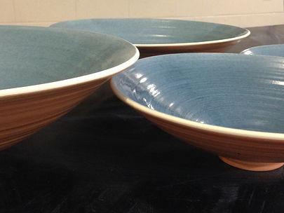 Wheel thrown serving pieces at Dan Harelick Studio Art