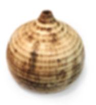 Wheel thrown vase in brown clay with K-choy glaze at Dan Harelick Studio Art