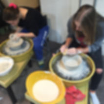 After school wheel throwing class for ages 11 and up at Dan Harelick Studio Art in Riverdale, NY